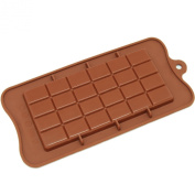 Freshware CB-607BR Break-Apart Chocolate Bar Silicone Mould, Brown
