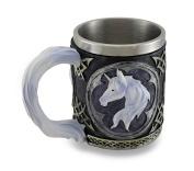 White Unicorn Drinking Tankard Tribal Coffee Cup Mug