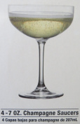 Krosno for the Cellar Glassware, Set of 4 Premium Cocktail/Champagne Saucers