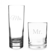 Cathy's Concepts Mr. and Mrs. Cocktail Glass Set