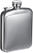 "Visol ""Vitak"" Polished and Brushed Metal Hip Flask, 240ml, Chrome"
