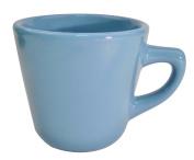 CAC China LV-0.5kg 3.2cm Las Vegas Stoneware Tall Cup, 210ml, Light Blue, Box of 36