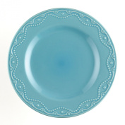 Paula Deen Signature Dinnerware Whitaker 4-Piece Dinner Plate Set, Aqua