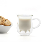 Eparé Double-Wall Insulated 240ml Glass Creamer Pitcher