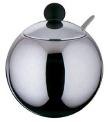 Stainless Steel 12.oz Sugar Bowl with Black Knob