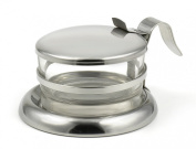 Brilliant Stainless Steel & Glass Serving Bowl - Quality StainlessLUX Serveware for Your Kitchen