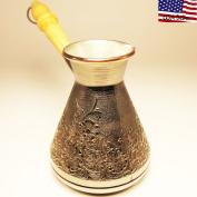 "Turkish Greek Coffee Pot ""Spring"" Volume 10 Oz - 300 ML"
