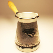 "Turkish Greek Coffee Pot ""Dolphin"" Volume 5 Oz - 150 ML"