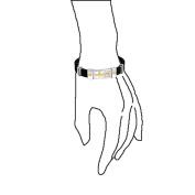 Bling Jewellery Black Rubber Stainless Steel Mens Sideways Cross ID Bracelet 20cm