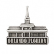 LDS Mens Orlando Florida Temple Silver Steel Tie Tac / Tie Pin for Boys