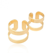 Brush Metal Two Set Above Knuckle Ring