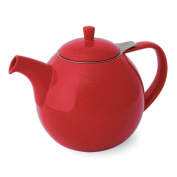 FORLIFE Curve 1330ml Teapot with Infuser, Red