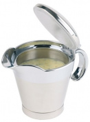 Aps Paderno World Cuisine 380ml Insulated Stainless Steel Gravy Boat with Spout