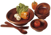 Lipper Cherry Collection 7-Piece Salad Set With 30cm Servers