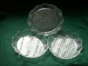 6 Clear Acrylic Salad Plates Dishes Bowls 6 X 5.5 Outside Dimension 4 X 11cm X 2.5cm Inside