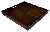 Simply Bamboo Extra Large (50cm X 50cm ) Espresso Brown Bamboo Wood Square Serving Tray
