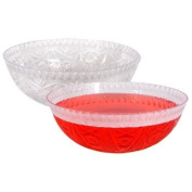 Plastic Round Crystal-Cut Serving Bowl for Salad, Punch or treats