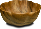 Pacific Merchants Acaciaware 10- by 10cm Acacia Wood Round Flared Serving / Salad Bowl