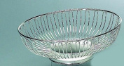 Silver Oval Wirebasket