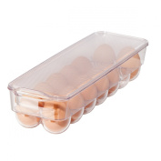 Oggi 5165 Clear Stackable Egg Tray for Fridge, Freezer and Pantry
