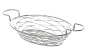 American Metalcraft BNBC281 Oval Birdnest Wire Basket with Ramekin Holder, Chrome