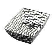 Tablecraft BK17209 Chrome-Plated Artisan Series Display Basket, Rectangular, 23cm