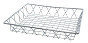 Update International PB-1412 Chrome Plated Rectangular Pastry Basket, 30cm