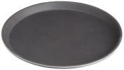 Stanton Trading Non Skid Rubber Lined 36cm Plastic Round Economy Serving Tray, Black
