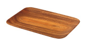 Pacific Merchants Acaciaware 10.5- by 7.25- by .190cm Acacia Wood Rectangle Serving Tray