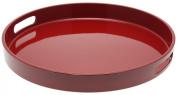 Kotobuki Red Lacquer Serving Tray, 34cm