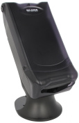 San Jamar H5000S Venue Minifold Control Napkin Dispenser with Stand, 500 Capacity, 20cm Width x 43cm - 0.6cm Height x 33cm Depth, Black Pearl