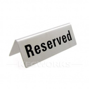 Winco RVS-4 Reserved Sign, 12cm by 4.4cm