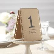 Ginger Ray Brown Kraft Wedding Table Numbers - Vintage Affair