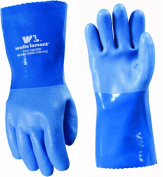 Wells Lamont 174L Blue Heavy Duty PVC Supported Gauntlet Cuff, Large