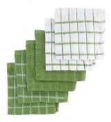 "Ritz 100% Terry Cotton, Highly Absorbent Dish Cloth Set, 12"" x 12"", 6-Pack, Cactus Green"