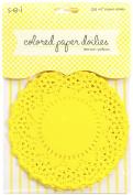Sew Easy Industries 25 Doilies, 10cm by 10cm , Lemon Yellow