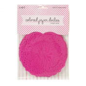 Sew Easy Industries 25 Doilies, 10cm by 10cm , Bright Pink