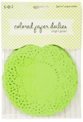 Sew Easy Industries 25 Doilies, 10cm by 10cm , Bright Green