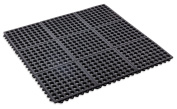 Kempf Rubber Anti-fatigue Drainage Mat , Interlocking, 90cm X 90cm X 1cm ,for Wet and Dry Areas