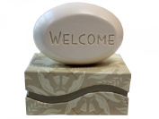 "Personalised Scented Soap - Soap Sentiments - Luxury Single Bar Box - Personalised with ""Welcome"""