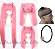 Free Hair Cap + for Kids for Adults Chibi Usa Cosplay Wig Cosplay Wig Cos Party Cosplay Convention Event