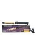 Hot Tools U-HC-8093 Professional Flipperless Curling Wand, Gold/Black