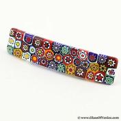 Colour Splash Millefiori Murano Glass Hair Clip