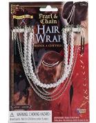 Pearl and Chain Hair Wrap