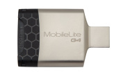 Kingston USB 3.0 MobileLite G4 Card Reader  supports SD/SDHC/SDXC, microSD/SDHC/SDXC Portable, sleek