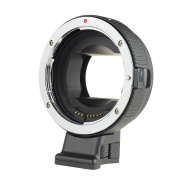 Commlite Auto Focus EF-NEX EF-EMOUNT FX Lens Mount Adapter for Canon EF EF-S Lens to Sony E Mount NEX 3/3N/5N/5R/7/A7 A7R Full Frame, Colour Black
