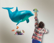 In My Room Wild Walls Dolphin Voyage Wall Decal Light & Sound Show Room Décor