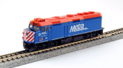 "Kato USA Model Train Products EMD F40PH #163 Chicago Metra ""City of Elmhurst"" N Scale Train"