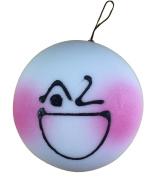 Jumbo Blushing Bun Squishy Crazy Wink Face Steam Bun Squishies