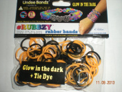 Rubbzy Glow in the Dark Orange and Black Loose Rubber Bands